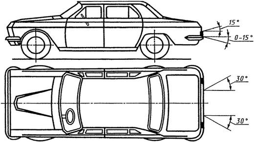 Схема видимости госномеров на автомобиле