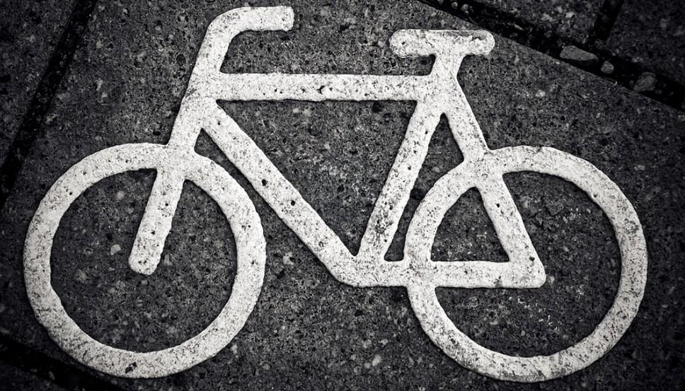 Разметка для обозначения полосы для велосипедистов