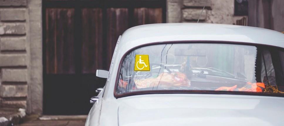 если поставил машину со знаком инвалид штраф