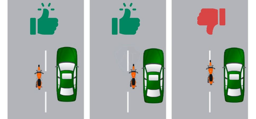 Дорожные ситуации с примерами мотоциклиста между рядами машин