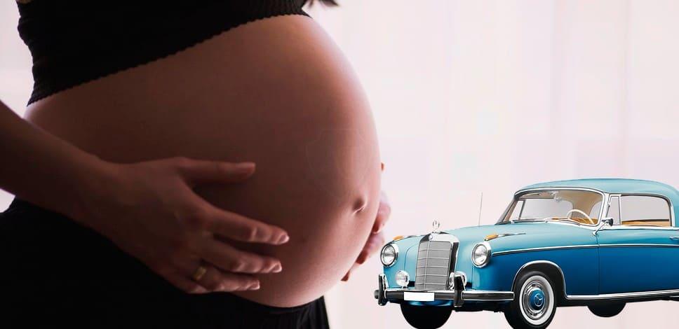 Езда за рулём при беременности
