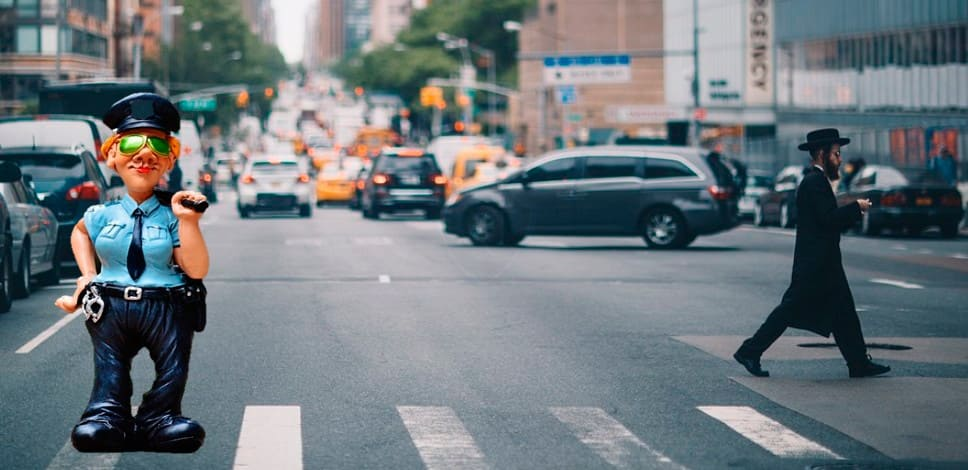Лишение прав пешехода за красный свет дороги