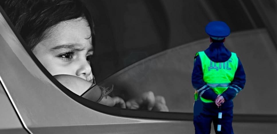 Новый штраф за езду без детского автокресла