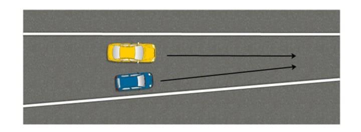 Перестроение при сужении дороги в левый или правый ряд