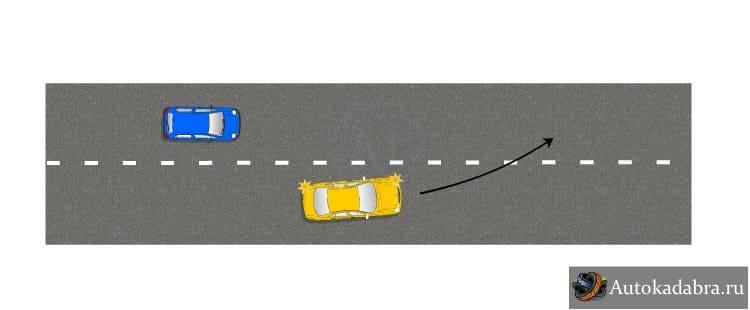 Уступление дороги при перестроении