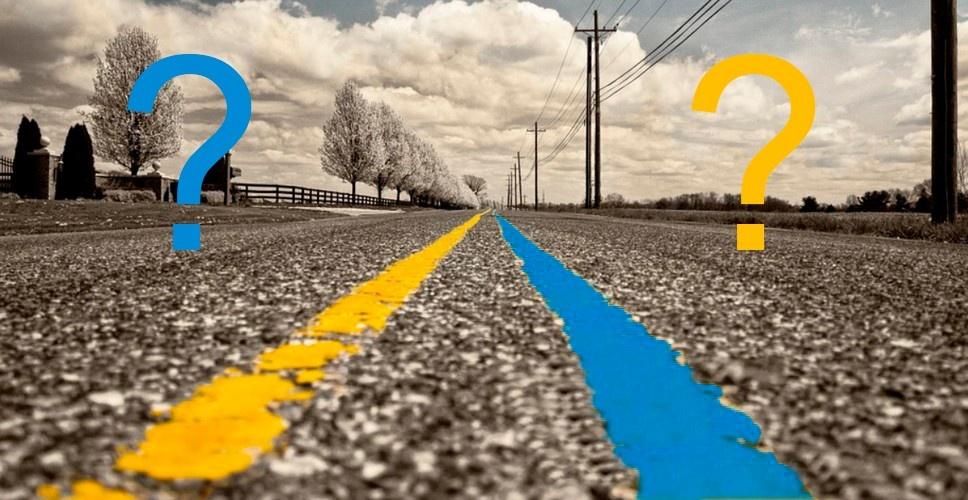 Новый ГОСТ: жёлтая и синяя разметка