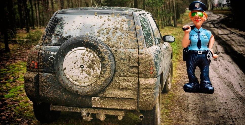 Есть ли штраф за грязную машину и какой?