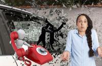 Разбили окно машины