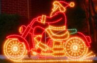 Светящийся мотоциклист